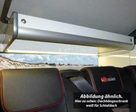 Roof hanging cabinet for sleeping roof EasyFit with slatted frame bed for VW T6/