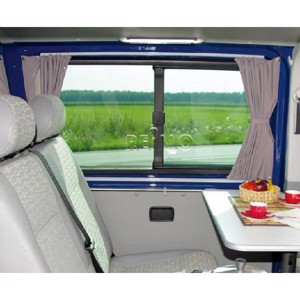 VW T6, VW T5 curtains grey, translucent for side and rear windows