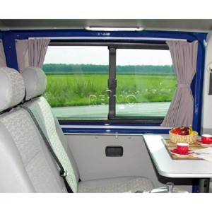 VW T6/5 LR Curtain Set grey, translucent