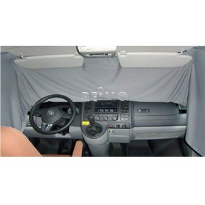 VW T6, VW T5 curtains for driver cab, grey