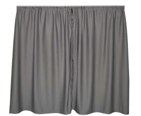 VWT5/6 Separation curtain driver's cab, grey, 1-ply, not opaque
