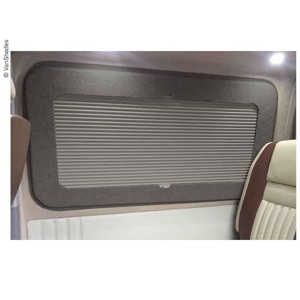Living area blackout blind VW T5/T6, left front, thermo, grey, driver's side