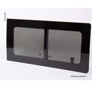 sliding window for VW T4 front left - year 1190-2004 - real glass