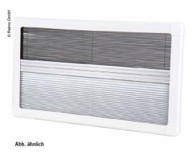 Carbest Blackout Pleated Blind and Flyscreen for RW VAN 985x465