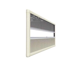 Duo Plissee Rollo UCS 978x628mm creme