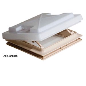 MPK Rooflight with Flyscreen 280 x 280 mm, Opal Glass, grey
