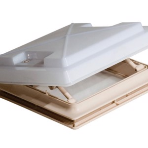 MPK Rooflight with Flyscreen 280 x 280 mm, Opal Glass, beige