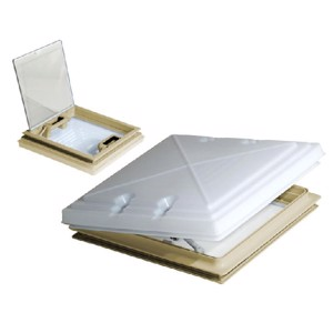 MPK Rooflight 400x400mm with Frosted Glass and Flyscreen