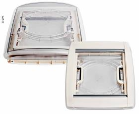 MPK Rooflight Vision Vent M pro 40x40cm - Frame: White with LED