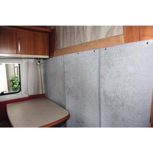 Thermo curtain for motorhomes with alcove, beige