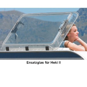 Heki 2 roof hood replacement glass without attachments