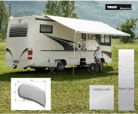 Omnistor roof awning 9200 4m motor 230V Mystic grey housing white