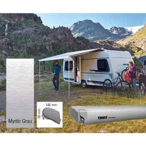Omnistor roof awning 6300 anodized 4,5m Mystic grey
