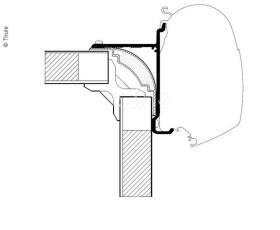 Omnistor awning adapter for High Top series 5, 4,5m