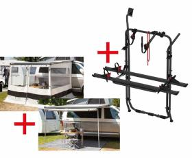 VW T6 Starter Kit: Thule Canopy/Awning + Multirail + Bike Rack