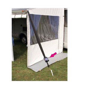 Storm protection for Fiamma awnings, with LED Tiedown Solar light