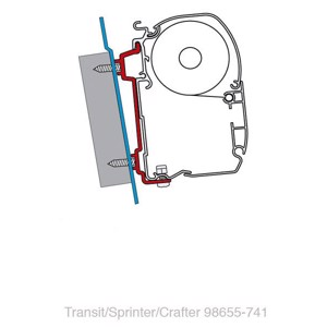 FIAMMA Adapter Ford Transit/ Sprinter/VW Crafter 06