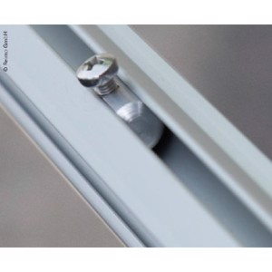 Locking piece piping rail for caravansore, F35
