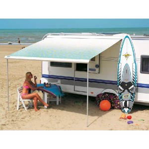 Awning Prostor 600 5,50m Blue Waves, silver