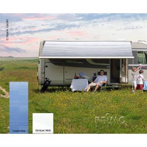 Dometic wall awning Perfect Wall 1500, casing: white colour: Horizon Blue