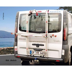 Alu rear carrier Carry Bike f. 2 wheels Renault Trafic tailgate