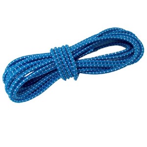Rubber rope blue/white 10 metre