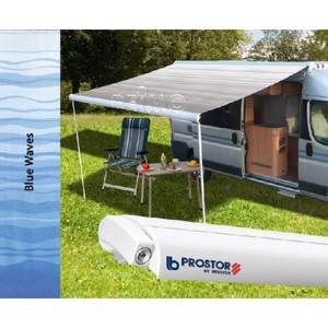 Awning Prostor 350*3,5 case white cloth Blue Waves