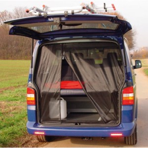 Mosquito net for VW T5 Kombi.Bus rear door from model 2003