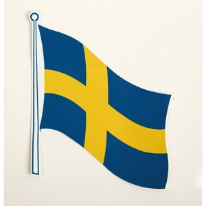 Flag sticker Sweden pack of 2, 145 x 125 mm
