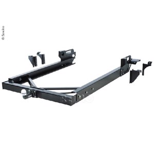 Trailer hitch without load-bearing frame extension