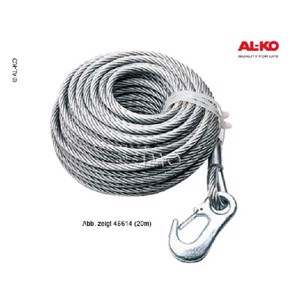 Cable for cable winch article number 46605, 15m for Al-Ko cable winch Optima 350