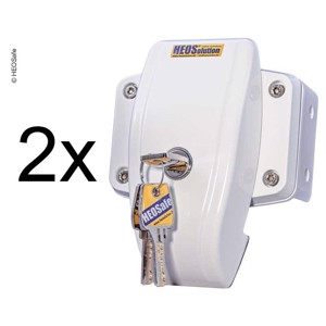 HEOSafe door protection set of 2 white