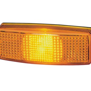 Yellow side marker light (surface-mounted light)