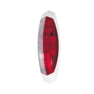 Outline marker light red/white, right white base plate, 122,2x39,2x28,6mm