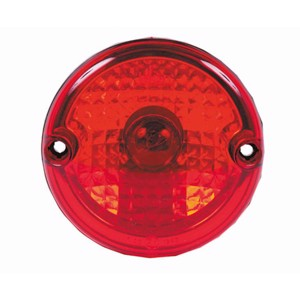 Rear fog lamp clear glass optic