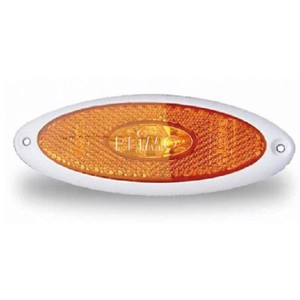 LED side marker light 12V surface mounted, white SB base