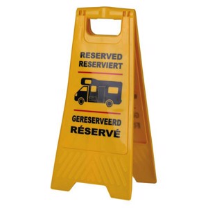 Reserved sign to set up