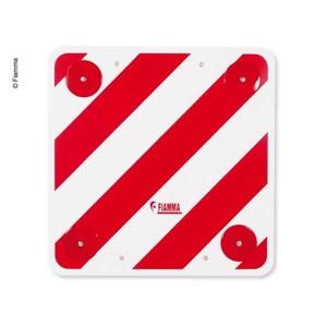 Warning board 50x50 plastic