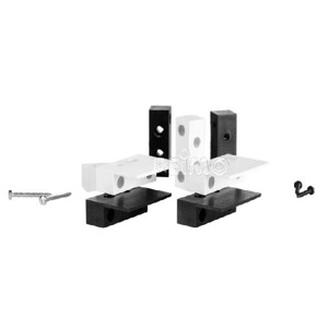 Mounting adapter for radio contacts set of 2, black