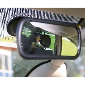Additional mirror with suction cup for windscreen or dashboard