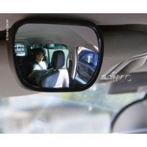 Additional mirror for driver - co driver sunshade