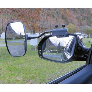 Universal mirror XL for almost all cars with adjustable mirror glass