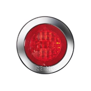 LED fog tail lamp with reflector, 12V, 4W, red