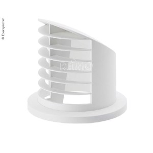 High air vents 90° for auxiliary heating. Airtronic D2, Ø50/60mm, white