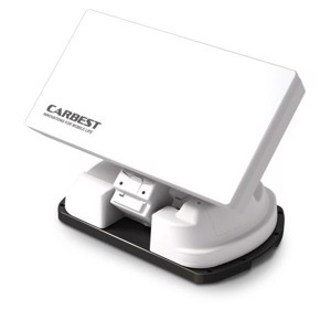 SNIPE III flat antenna with auto-skew, fully automatic, color: white