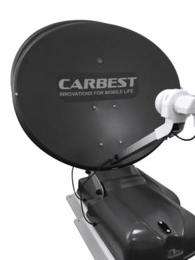Carbest antenna 60 DO anthracite, 60cm, 2 satelittes + LCD display