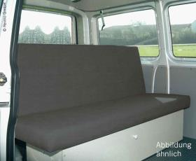 bench sleeping bench VW T4 Family wide, 3-seater Weekender fabric Classic grey,u