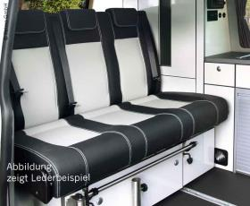 Sleeping bench size 10 VW T6/5 V3000 3-seater, upholstery leather2-fbg. 2 heat e