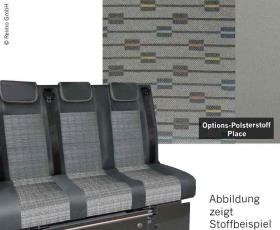 Sleeping bench VW T5 Trio Style V3000 Gr.10 3-seater upholstery Place T5 2-col.