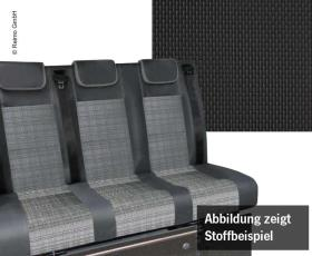 Sleeping bench VW T6.1, Trio Style V3000 size 10 3-seater. Upholstery Briks 2-coloured